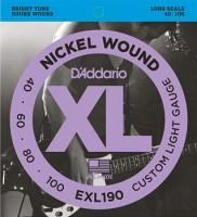D'ADDARIO EXL190 BASS STRINGS extra super Soft/Long Scale 040-100