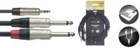 STAGG Audiokabel NUC6/MPS2PR  1x 3,5 Stereo Miniklinke - 2x Klinke 6,3 Male 6 m