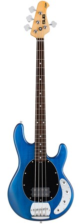 STERLING SUB Ray4 E-Bass, Translucent Blue Satin