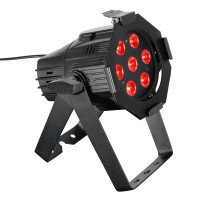 CAMEO Studio Mini PAR - 7 x 3 W TRI Colour LED RGB PAR Scheinwerfer in schwarzem Gehäuse CLPSTM