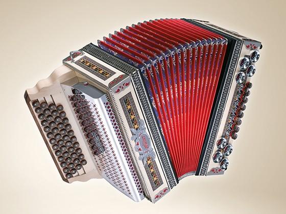 """MÜLLER Model """"Hermagor"""" Steirische Harmonika 4-Reihig"""