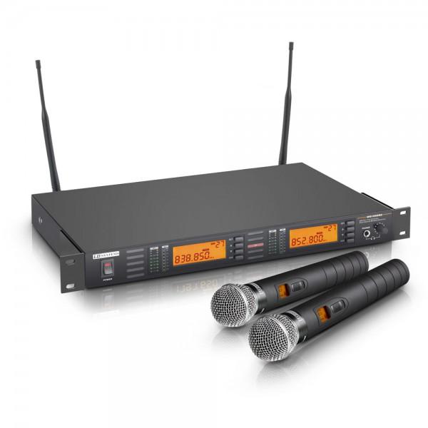 LD SYSTEMS WS 1000 Serie - Funkmikrofon System mit 2 x Handmikrofon dynamisch (X-Version) LDWS1000HH