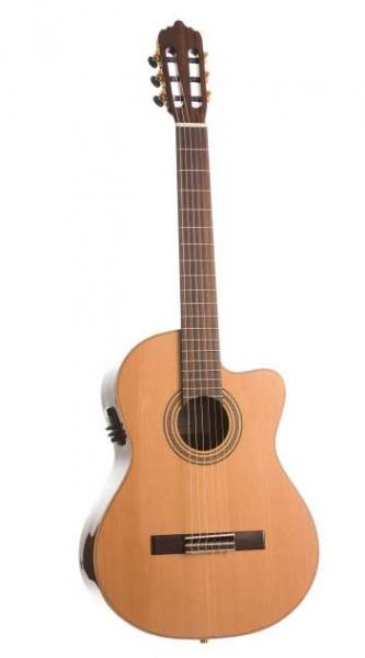LA MANCHA Rubi C CWE Klassikgitarre / Konzertgitarre mit Tonabnehmer 211254