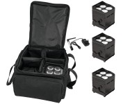 EUROLITE Set 4x AKKU UP-4 QCL Spot QuickDMX + SB-4 Soft-Bag + Qu