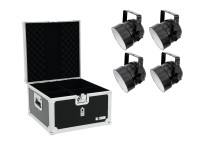 EUROLITE Set 4x LED PAR-56 RGB sw + Case