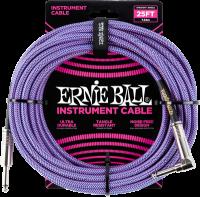 ERNIE BALL Instrumentenkabel Gewebe gerade / gewinkelt violett EB6069