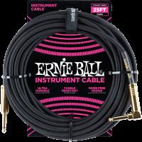 ERNIE BALL Instrumentenkabel Gewebe gerade / gewinkelt Schwarz EB6058