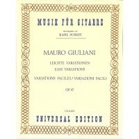 NOTEN Leichte Variationen OP47 Giuliani Mauro UE 14460