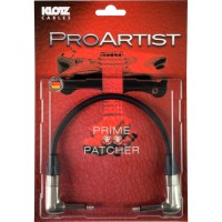 KLOTZ PRON002RR Pro Artist Patch Kabel 0,2 m Neutrik Winkelstecker