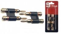 STAGG B0300H Double Banana Plug Stecker