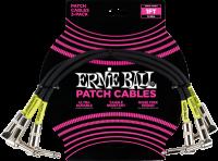 ERNIE BALL Patchkabel gewinkelt schwarz 30 cm EB6075