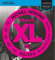 D'ADDARIO EXL170-5  5String-BASS STRINGS Soft/Long Scale 045-130