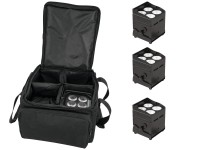 EUROLITE Set 4x AKKU UP-4 QCL Spot QuickDMX + SB-4 Soft-Bag