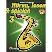 NOTEN Hören, Lesen & Spielen 3 Schule Altsaxophon HASKE1013021