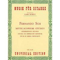 NOTEN Mittelschwere Etüden Fernando Sor UE 14425