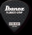 IBANEZ Plektren PPA16MRG-BK Flat Pick 6 Pack Rubber Grip