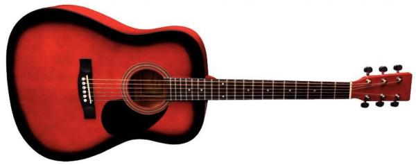 VGS D-1 Westerngitarre Redburst