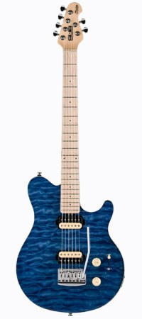 STERLING SUB AX3 E-Gitarre, Trans. Blue