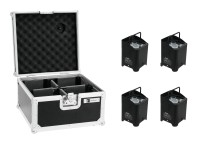 EUROLITE Set 4x AKKU UP-4 QCL Spot + Case