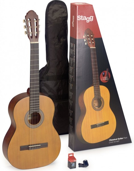 STAGG Konzertgitarre C440 Set - Natural 4/4 Klassikgitarre