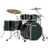 TAMA Superstar Hyperdrive Rock BCB Brushed Charcoal Black Schlagzeug Set