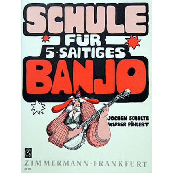NOTEN Schule für 5 saitiges Banjo Poehlert Werner ZM 80246