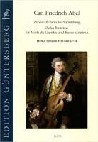 NOTEN 10 Sonaten 2 (zweite Pembroke Sammlung) VDG Abel Carl Friedrich GUENTER -G254