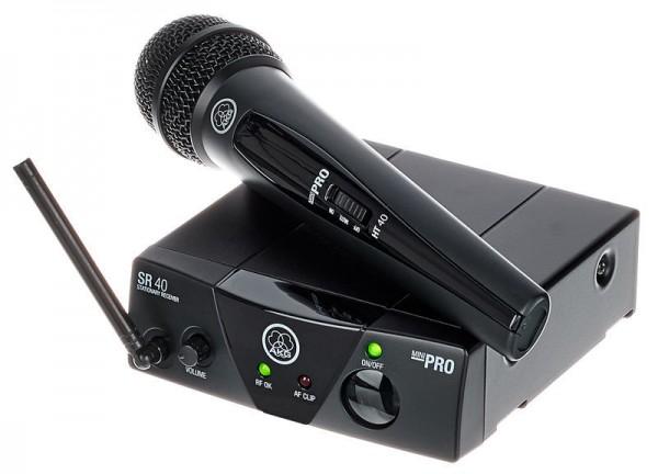 AKG WMS Mini Vocal Funkmikrofon / Drahtlossystem mit Handheld 864.375 MHz ISM2