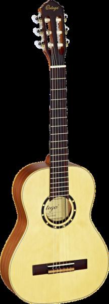 ORTEGA Family Series Konzertgitarre / Klassikgitarre 1/2 Natur inkl. Tasche R121-1/2