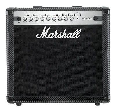 "MARSHALL Combo MG50CFX ""Carbo Kevlar"" Finish,"