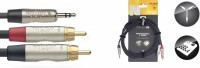 STAGG Y-Kabel MiniStereoKlinke - 2 Cinch 6m NYC6/MPS2CMR