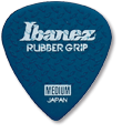 IBANEZ PPA16HRG-DB Flat Pick 6 Pack Rubber Grip Model