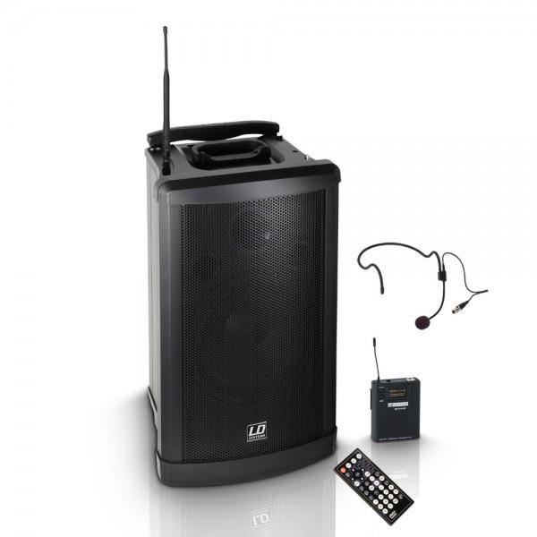LD SYSTEMS Roadman 102 - Mobiler PA Lautsprecher mit Headset LDRM102HS