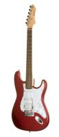 NOIR Ira-SSH MR inkl Bag E-gitarre metalic red