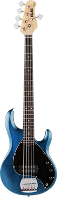 STERLING SUB Ray5 E-Bass, Trans. Blue Satin