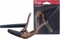 STAGG Capo Kapodaster Flat Wood Dark SCPX-FL-DKWOOD für Klassikgitarre