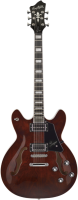 HAGSTROM Super Viking Transparent Brown E-Gitarre HSSUVIK91