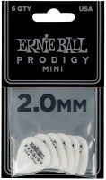 ERNIE BALL Plektren Prodigy Mini  2,00 mm weiß 6 Stück EB9203