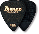 IBANEZ Flat Pick 6 Pack Sand Grip Model Black