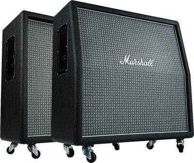 "MARSHALL MR1960AX Box 100 Watt, 4x12"" large chequerboard Front,"