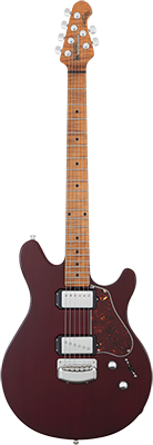 MUSIC MAN James Valentine E-Gitarre, Trans Maroon,
