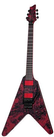 SCHECTER Blood Splatter E-Gitarre, V-Shape,