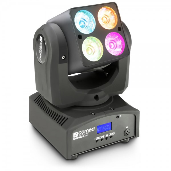 Cameo NanoWash 400 - 4 x 10 W CREE RGBW LED Mini Wash Moving Head mit Single Pixel Control und Unlim