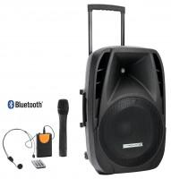 "Pronomic 15"" Akku Aktivbox inkl. Funkmikrofon, Headset und Fernbedienung"