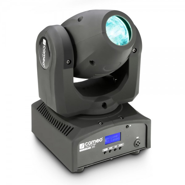 Cameo NanoBeam 300 - 1 x 30 W Cree LED RGBW Mini Moving Head mit Unlimited Pan inkl. IR-Fernbedienun