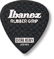 IBANEZ PPA16HRG-BK Flat Pick 6 Pack Rubber Grip Model