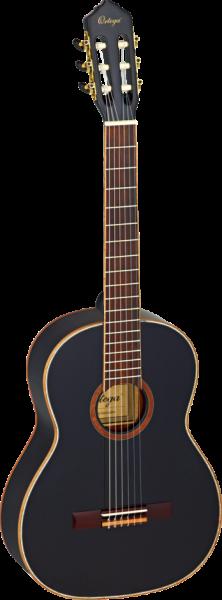 ORTEGA Family Series 4/4 Konzertgitarre schwarz / black inkl. Tasche