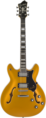 HAGSTROM E-Gitarre Viking Gold Metallic