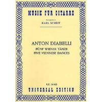 NOTEN 5 Wiener Tänze Diabelli Anton UE14463