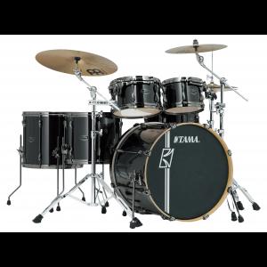 TAMA Superstar Hyperdrive Rock BCB Brushed Charcoal Black Schlagzeug Set